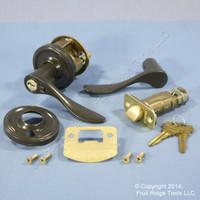 LEFT Weslock Traditonale Bordeau 640 Gray Keylock Lever Door Handle