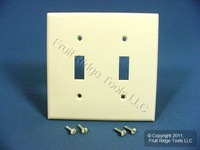 Leviton Almond UNBREAKABLE 2G Switch Plastic Cover Wallplate Switchplate 80709-A