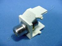 New Leviton Almond Quickport Snap-In F-Type Coaxial Cable Jack 75-Ohm F-Connector 41084-FAF