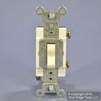 Leviton Light Almond COMMERCIAL Toggle Wall Light Switch 20A 120/277V CS120-2T