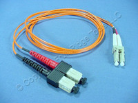 1M Leviton Fiber Optic Multi-Mode Duplex Patch Cable Cord SC LC 50mic 50DCL-M01
