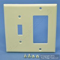Leviton Almond Thermoplastic Combination Switch Plate Decora GFCI Cover Nylon Wallplate GFI 80707-A