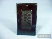 10 Leviton Black Face Plate Color Change Kits For Decora 6-Scene Controller DCK6S-E