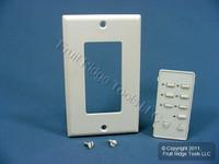 Leviton BLANK White Face Plate Color Change Kit For Decora 6-Scene Controller DCK6S-BW