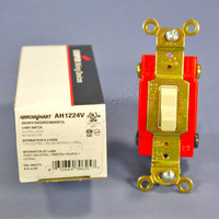 Cooper Arrow Hart Ivory INDUSTRIAL 4-WAY Quiet Toggle Wall Light Switch 20A AH1224V
