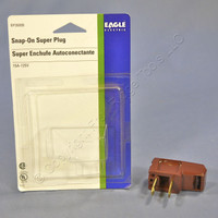 "Eagle Brown ""Super Plug"" Right Angle Side Mount 15A 125V Non-Polarized Non-Grounding NEMA 1-15P BP2600B"
