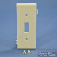 Leviton Light Almond Sectional Switch Wall Plate LPSC1-T
