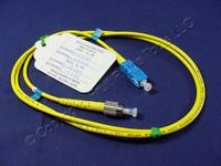 1M Leviton Fiber Optic Singlemode Simplex Patch Cable Cord SC FC UPC UPSCF-S01