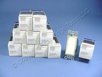 10 Eagle Commercial Almond 4-Way Decorator Quiet Rocker Light Switches 15A 6504A