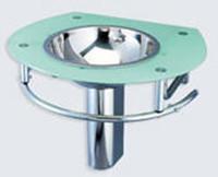 Decolav Sea Foam Glass Bathroom Lavatory Vanity Stainless Steel Bowl Sink 2240-1B-SF
