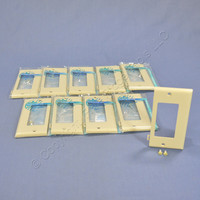 10 Leviton Ivory UNBREAKABLE Decora GFCI End Panel Sectional Cover Wallplates PSE26-I