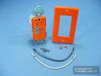 Leviton ORANGE ISOLATED Ground Hospital Grade LED Surge Receptacle Outlet 15A 8281-IGO
