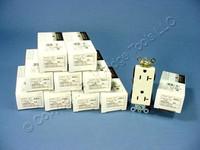 10 Leviton Almond Decora INDUSTRIAL Duplex Receptacles NEMA 5-15R 15A 16262-A