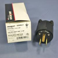 Cooper Studio All-Black Industrial Grade Straight Blade Plug Male NEMA 5-15P 5-15 15A 125V 6266BLK