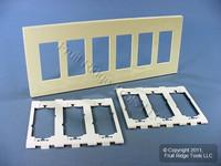 Leviton Almond 6-Gang Midway Size Decora Screwless Wallplate Cover GFCI GFI SJ266-SA