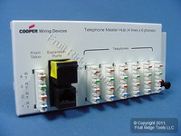 New Cooper Open House Structured Media 4x6 Telephone Module 4-Lines RJ131X 5578