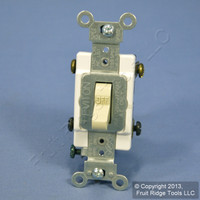 Leviton Ivory DOUBLE POLE Commercial Toggle Switch 20A CSB2-20I