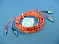 5M Leviton Fiber Optic Patch Cable Cord ST SC 62.5 Micron Duplex Multimode 62DCT-M05