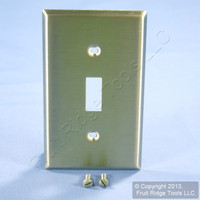 Leviton NON-MAGNETIC Stainless Steel 1-Gang Toggle Switch Cover Wall Plate Switchplate 84001-40