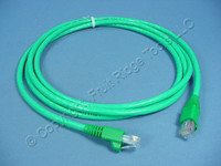 Leviton Green 7' Cat 6+ Extreme Ethernet LAN Patch Cord Cable Cat6 Plus 7 Ft 62460-7G