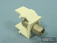 Leviton Acenti Sand Quickport F-Type Coaxial Cable Jack 75-Ohm AC084-FN-SND