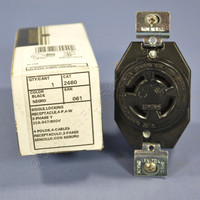 Leviton L20-20 Turn Locking Receptacle Turn Twist Lock Outlet NEMA L20-20R 20A 347/600V 3ØY 2460