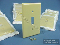 30 Leviton Ivory 1-Gang Toggle Switch Cover Plastic Wallplate Switchplates 86001