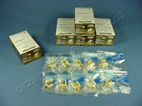 50 New Leviton Almond Quickport Gold Coaxial Cable Connector Jacks Coax 40831-BA