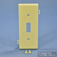 Leviton Ivory UNBREAKABLE Toggle Switch Device Center Panel Sectional Cover Wallplate PSC1-I