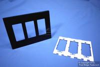 Leviton Black 3-Gang Midway Size Decora Screwless Wallplate Cover GFCI GFI SJ263-SE