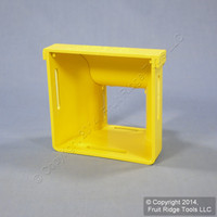 """Leviton Yellow Fiber Patch Panel Raceway Reducer 4""""x4"""" to 2""""x2"""" +Cover S4RDR-RDC"""