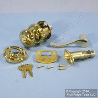 5 LEFT Weslock Traditonale Impresa 640 Polished Brass Keylock Knob Bordeau Latch