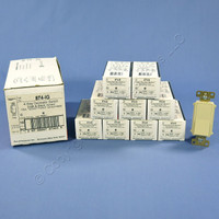 10 Pass & Seymour Ivory 4-Way Decorator Rocker Switches 15A 120/277V 874-IG
