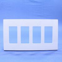 Leviton White 4-Gang Midway Size Decora Screwless Wallplate Cover GFCI GFI SJ264-SW