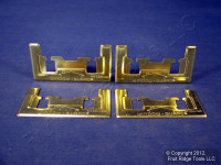 4 Brainerd Brass Plated Window Lock Security Protection Burglary Guards 594XC