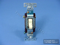 Eagle Electric Ivory COMMERCIAL Toggle Wall Light Switch 3-Way 15A Bulk CS315V