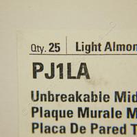 25 Cooper Light Almond UNBREAKABLE Mid-Size Switch Cover Nylon Wallplate Switchplates PJ1LA