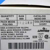 Leviton Quickconnect Wall Mount Phone Jack 40253 Almond