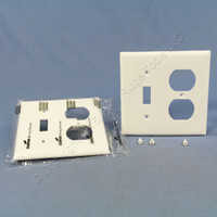 2 Cooper Standard 2-Gang White UNBREAKABLE Nylon Switch/Outlet Wallplate Receptacle Covers 5138W