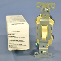 Cooper Ivory 3-Way COMMERCIAL Quiet Toggle Wall Light Switch 20A 120/277V CSB320V
