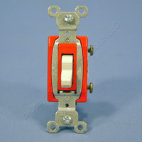 Pass & Seymour Light Almond COMMERCIAL Toggle Light Switch 20A CS120-LA Bulk
