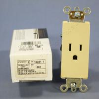 Leviton Ivory Decora COMMERCIAL Receptacle Outlet NEMA 5-15R 15A 16251-I Boxed