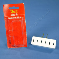 Do It Best White Plug-In Triple Tap Outlet Adapter NEMA 1-15R 15A 125V 530891