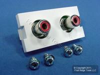 Leviton White MOS RCA Stereo Audio Wall Jack Wallplate Insert Module 41291-1RW