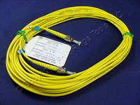 10M Leviton Fiber Optic Single-Mode Simplex Patch Cable Cord SM ST UPC UPSST-S10