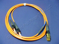 2M Leviton Fiber Optic Multi-Mode Duplex Patch Cable Cord MT-RJ ST 50 50DTM-M02