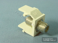 Leviton Acenti Quartz Quickport F-Type Coaxial Cable Jack 75-Ohm AC084-FQF