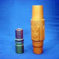 3 Leviton Orange 17 Series Female Vulcanized Cam-Type Plugs 690A 600V 17V25-O