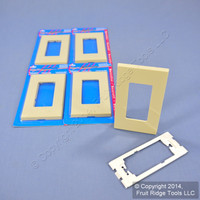 5 Leviton Ivory Decora Screwless Rocker Switch Cover Wallplates GFCI 80301-SI