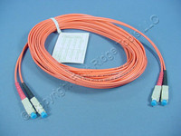 10M Leviton Fiber Optic Multi-Mode Duplex Patch Cable Cord SC 62.5/125 62DSC-M10
